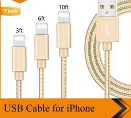 China longitud del cordón el 1m el 1.8m 3M del cargador de IPhone del cable USB de datos de los 3FT los 6FT el 10FT modificada para requisitos particulares proveedor